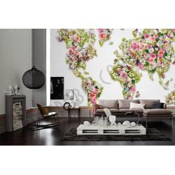 На фото Интерьер обоев Urban Flowers  470808 AS Creation
