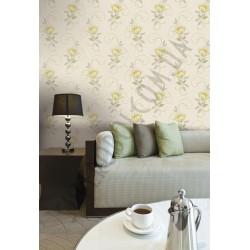 На фото Интерьер обоев Charming Florals 88104 Grandeco