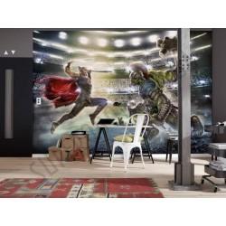 На фото Интерьер обоев 368x254 из 8 частей Thor and Hulk Komar