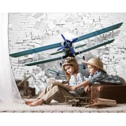 На фото Интерьер обоев Фотообои бумажные 254 х 184   DECOART