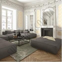 На фото Интерьер обоев Villa Carlotta  39402 Limonta